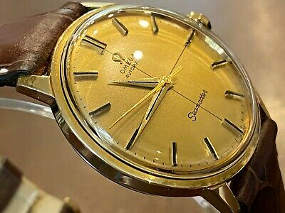 £360 • Buy Fantastic! Glorious Omega Gold Seamaster Crosshair Dial Automatic Watch