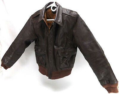 £581.94 • Buy Original WWII US Military Army Air Force Type A2 Leather Flight Jacket Bomber