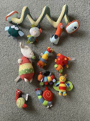 £10 • Buy Mamas And Papas Babyplay Baby Bundle Rattle Crunchy Toys Spiral Toy
