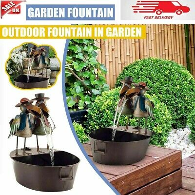 £16.69 • Buy Water Fountain Owl Crow Rooster Yard Statue Ornament Yard Outdoor Art Decor UK
