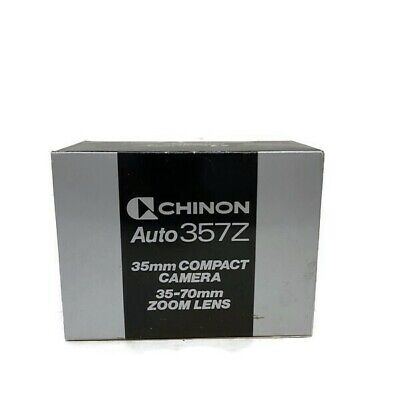 £10.45 • Buy Chinon Auto 357Z 35mm Compact Camera 35-70mm Zoom Lens New Old Stock NOS