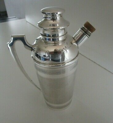 £125 • Buy Art Deco Silver Plated Cocktail Shaker, Life Saver, Circa 1930's