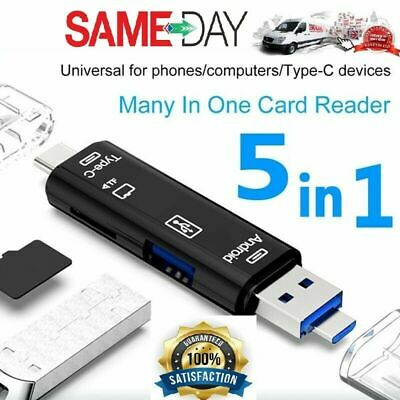 £3.49 • Buy SD Card Reader For Android Phone Tablet PC Micro USB OTG To USB 2.0&3.0 Adapter