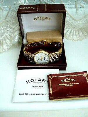 £26 • Buy Rotary Mans Multiphase Quartz Watch Boxed With Instuctions Etc