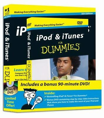 AU16.08 • Buy IPod & ITunes For Dummies [DVD + Book Bundle] (Paperback) New And Sealed