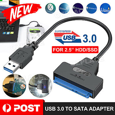 AU7.50 • Buy USB 3.0 To SATA 2.5  Hard Drive HDD SSD Adapter Converter Cable 22Pin UASP