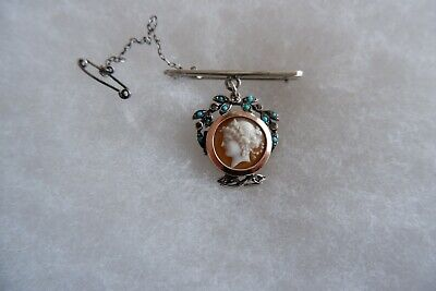 £179 • Buy Antique Victorian Period Gold / Silver Diamond & Turquoise Cameo Photo Locket