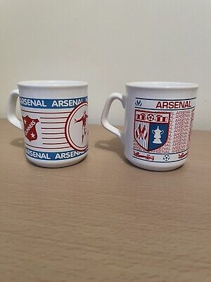 £12.99 • Buy Pair Of Arsenal Football Mugs By Tams Made In England Vintage VGC