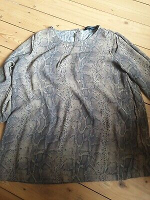 £2.99 • Buy Stylish French Connection Snakeskin Top Size 14