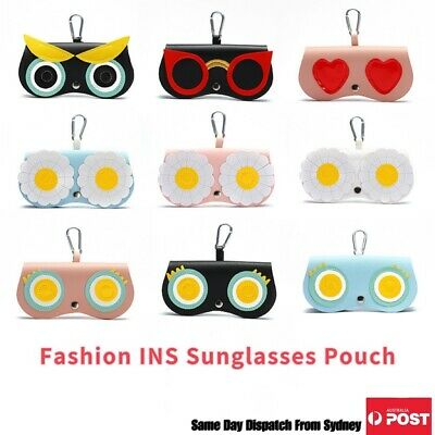 AU7.99 • Buy Synthetic Leather Sunglasses Case INS Cute Cover Glasses Pouch Protector Holder