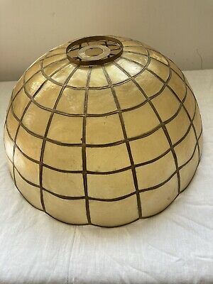 £16 • Buy Vintage Mother Of Pearl Capiz Shell Ceiling Lightshade (large)