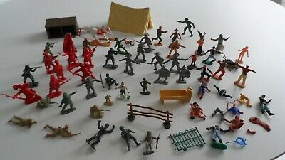 £9.99 • Buy Lot Of Vintage Plastic Soldiers Knights Cowboys Indians TIMPO BRITAINS MARX HK