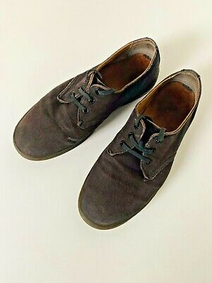 £9.99 • Buy Dr Martens Delray Air Wear Canvas Lace Up Shoes Navy Uk8 Gc