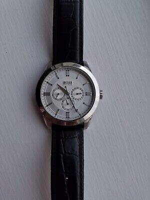 £25 • Buy Genuine Hugo Boss Men's Watch (Please Read The Description) - Silver And Leather