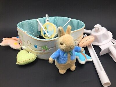 £19.99 • Buy Beatrix Potter Peter Rabbit Musical Baby Cot Mobile Nursery Hanging Soft Toys