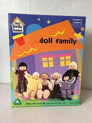 £9.99 • Buy ELC  My Little Home  Wooden Dolls House Furniture: DOLL FAMILY Vintage 2001