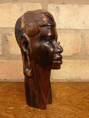 £14.99 • Buy A Nice Carved Hardwood African 7 1/2  Head Art Ethnic Bust