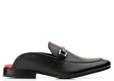 £12.99 • Buy Base London Mens Uk 6 Dolce Waxy Black Backless Loafers Casual Shoes