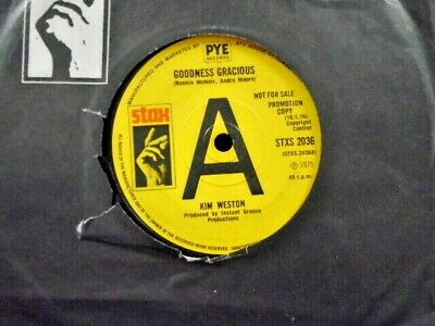 £7.95 • Buy KIM WESTON   GOODNESS GRACIOUS    UK STAX PROMO EX+ COND. IN Or. SL.