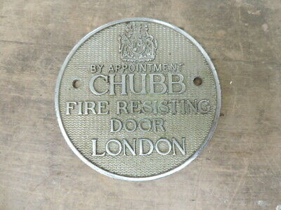 £4.99 • Buy Vintage? CHUBB Fire Resisting Door Sign/Safe Plate?