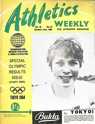 £0.99 • Buy ATHLETICS WEEKLY THE ATHLETES MAGAZINE Oct 31st 64 Vol 18 No 44 GOOD CONDITION