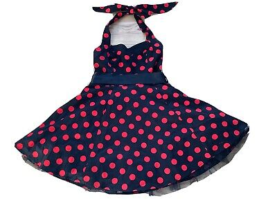 £15 • Buy Hearts And Roses London 50's Style Halter Neck Swing Dress Size 12-14