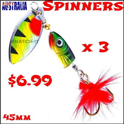 AU6.99 • Buy  Redfin Spinners Spinner Spoon Fishing Lure Trout Freshwater Lures Baits Bass