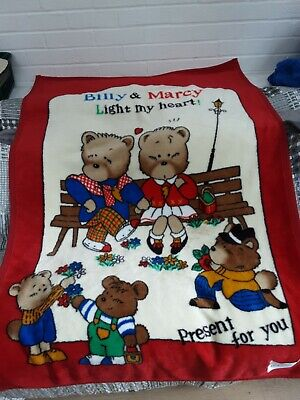 £2.50 • Buy Cot Bed/Jr. Bed Blanket,Red With Teddy Pattern,Thick Fleece,By KOYO,Immaculate!