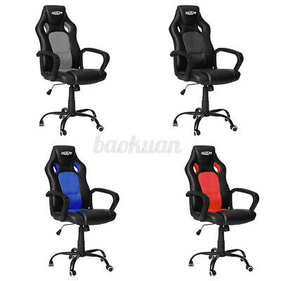 AU98.99 • Buy Racing Gaming Office Chair Executive Computer High Back Chairs Seat Recliner PU