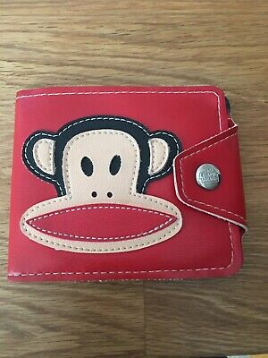 £15 • Buy Paul Frank Vintage Red Leather Monkey Wallet In Excellent Condition