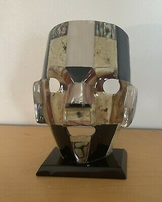 £22 • Buy Vintage Mexican Mayan Aztec Mosaic Marble / Abalone Tribal Mask Sculpture.