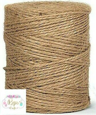 £2.45 • Buy Quality Natural Jute Rope Twine Cord String 2mm - Rustic DIY Arts & Crafts