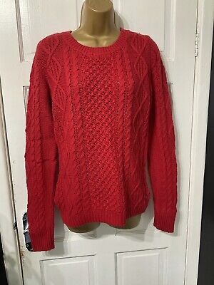 £3.99 • Buy H&M LOGG Red Cable Knit Jumper Size S See Measurements