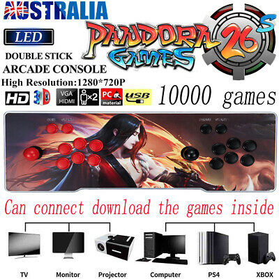 AU259.49 • Buy Pandora's Box 26S 10000 In 1 Video Games Double Stick Arcade Console WIFI Gift