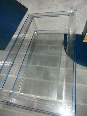 £160 • Buy Could Be 1970's Vintage Blue Perspex And Glass Coffee Table.