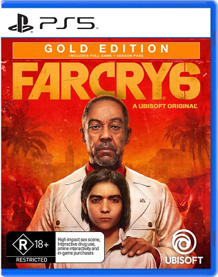 AU156.95 • Buy Far Cry 6 Gold Edition With Pre-Order Bonus DLC PS5 Game NEW PREORDER 07/10