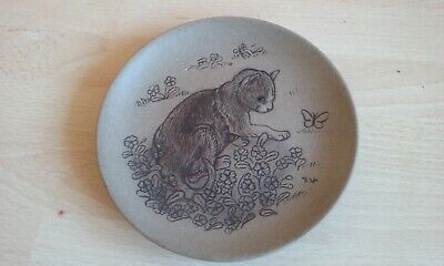 £6.99 • Buy Poole Pottery- Earthenware Small Dishes, One Dog, One Cat Design