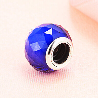 £16.69 • Buy Pandora Authentic Silver Geometric Facets Royal Blue Crystal Bead 791722NCB