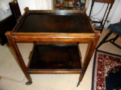£135 • Buy Vintage Art-Deco 'Fold-away' Tea Trolley With 2 Serving Trays.