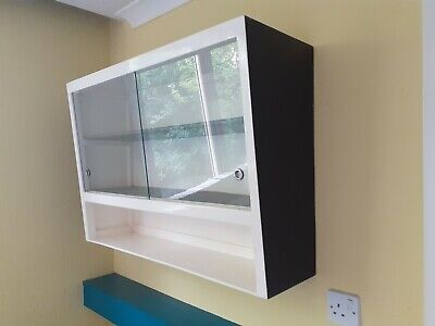 £14.99 • Buy 1950s 1960s Vintage Retro Kitchen Wall Cupboard Display Cabinet COLLECTION ONLY!