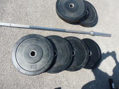 £375 • Buy Olympic Weight Bar & Weight's +2 Benches