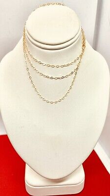 """£21.85 • Buy Lot D Italian  20"""" 9ct Yellow Gold 1.2mm Trace Chain.  Nwt. NOT SCRAP"""