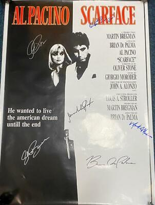 £485 • Buy Scarface Poster Signed By Al Pacino, Michelle Pfeiffer, Brian De Palma & Others
