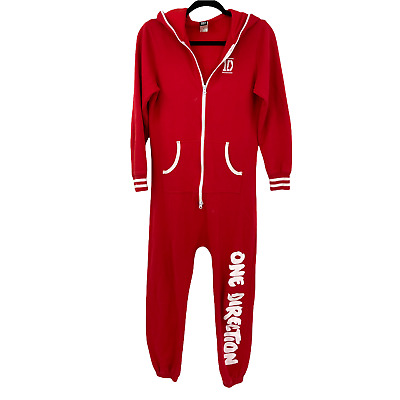 £69.47 • Buy One Direction 1D One Piece Small Women Red Full Zipped Front Pocket Hoodie