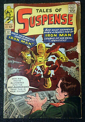 £187.29 • Buy Tales Of Suspense #42 IRON MAN GOLD 1st Red Barbarian 1963