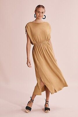 AU41 • Buy Country Road Linen Dress - Size S - Mustard