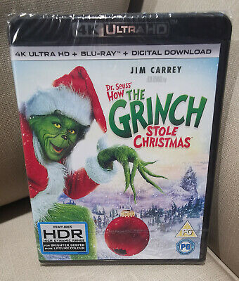 £13.99 • Buy Dr Seuss: How The Grinch Stole Christmas 4K UHD + Blu Ray New & Sealed Free Post