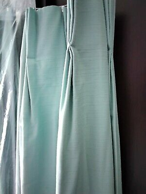 £40 • Buy Fully Lined Pinch Pleat Duck Egg Blue Curtains