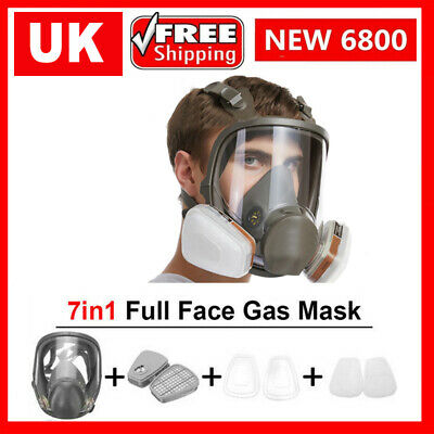 £27.69 • Buy Chemical Mask Reusable Anti-Dust Respirator Safety Industrial 6800 Gas Mask PPE
