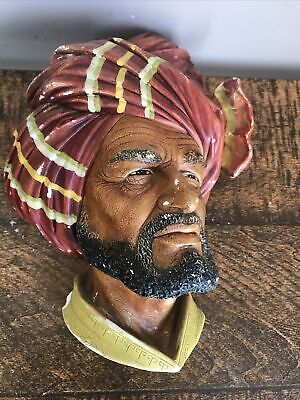 £5.90 • Buy Bossons Authentic Chalkware Wall Hanging ABDHUL Head Hand Painted And Crafted